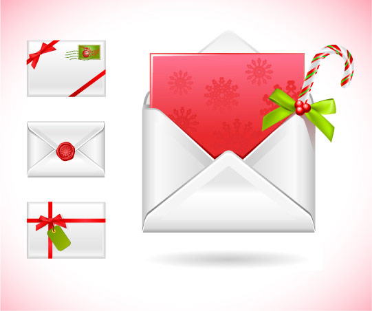 Christmas message vector material