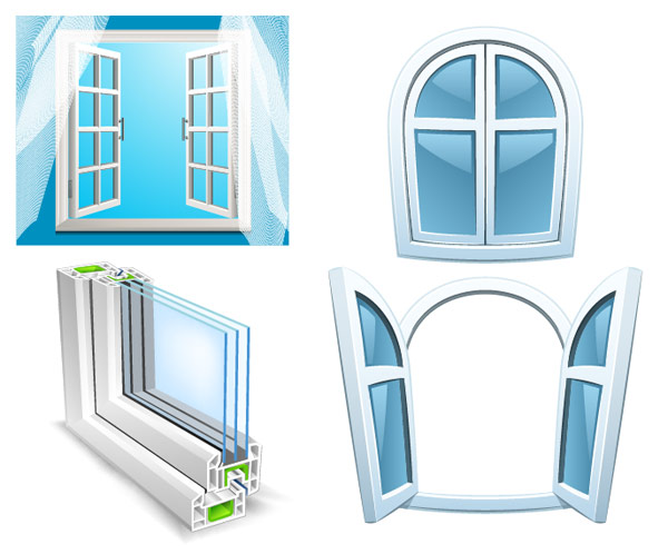 Free vector designs vector materials vector art page 1024 for Window design cartoon