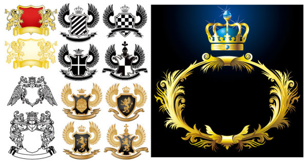 european royal pattern vector graphic