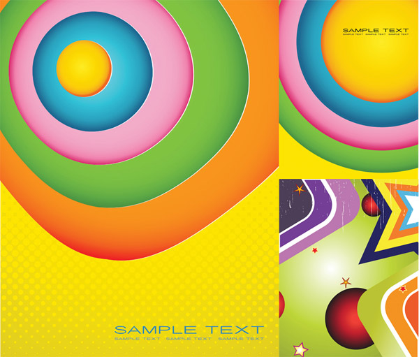 Colorful vector graphics background material
