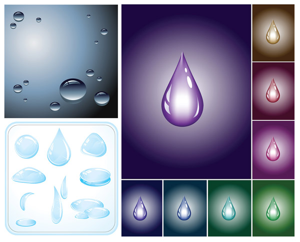 Water drops water drops vector material