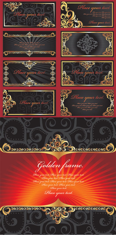 Vector ornate gold lace material