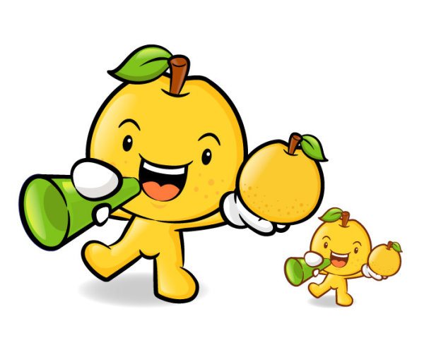 Love the cartoon super fruit Vector 2