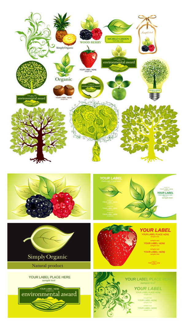 Theme Vector fruit plants