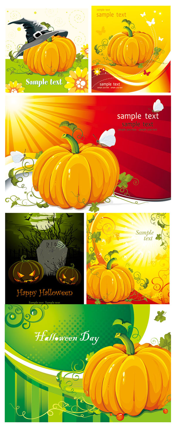 Halloween Pumpkin Vector elements