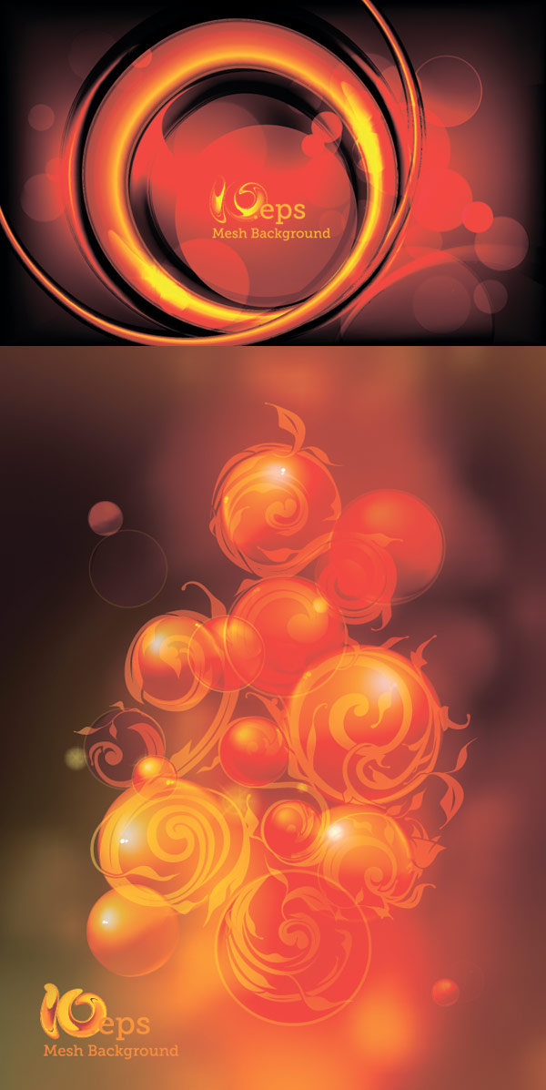Vector background of red balls