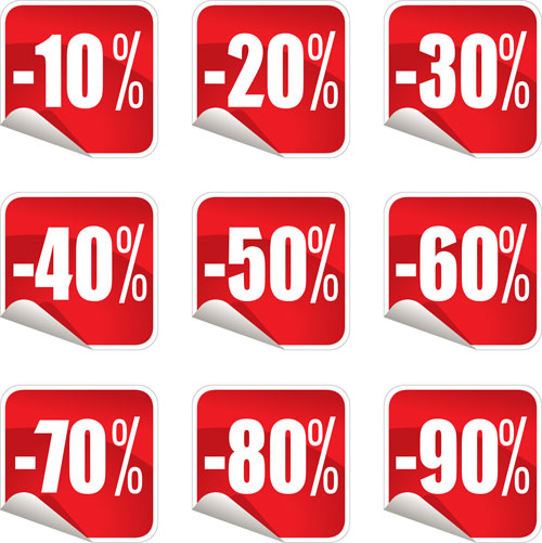 Sale Vector Png Sale Stickers Vector Icons
