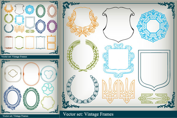A variety of border Vector Graphics
